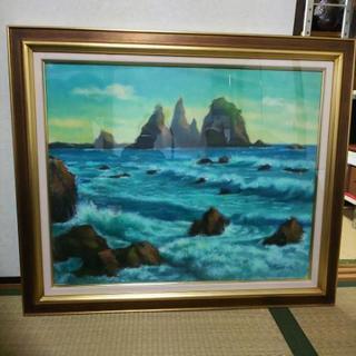 油絵 石廊崎 H.KOUYAMA