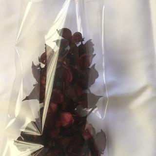 オーナメント 花弁 バーガンディ