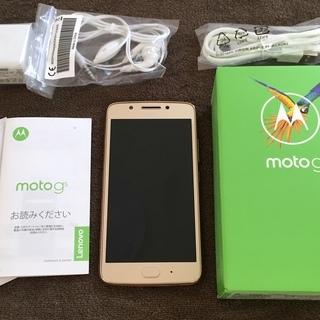 【美品】SIMフリー Motorola Moto G5 (XT1...