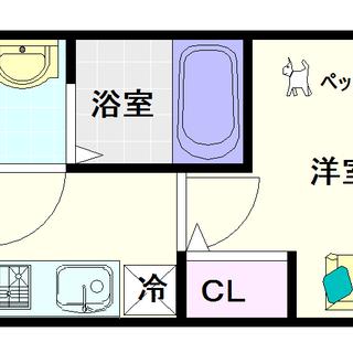 【レオンコンフォート難波アッシュ】3号タイプ!1Kタイプ!ネット...