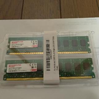 売ります。Komputerbay 2GBメモリ2枚組 DUAL デスクトップパソコン用 増設メモリ2枚組 DDR2 PC2-6300 PC2-6400 800MHz 240pin DDR-SDRAM DIMM - パソコン