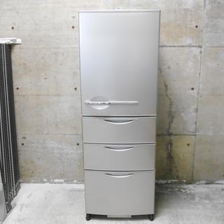 サンヨー 4ドア冷蔵庫 SR-361K『良品中古』下段トレイ割れあ...