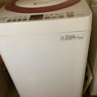 給水ホース付き洗濯機