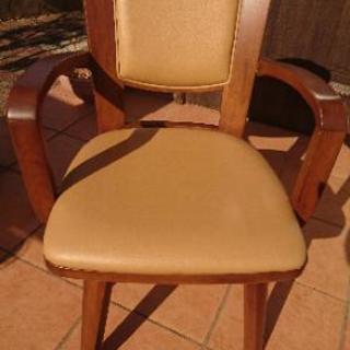 回転式 ダイニングチェア 4脚 中古 椅子