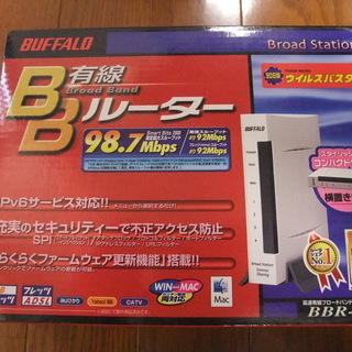 「新品未使用」有線BroadBandルータ「BBR-4HG」