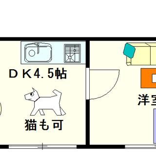 【グランソシエ大国Ⅱ】1DKタイプ!ペットOK(猫も可)☆