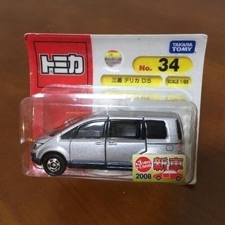 絶版 トミカ 34 新品 三菱デリカD:5  2008年新車シール付