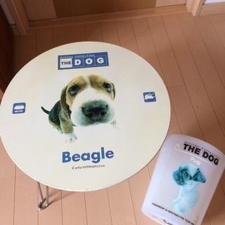 お値下げ! DOG シリーズ  ミニテーブルとゴミ箱
