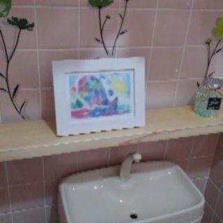 ハンドメイド!トイレ飾り棚