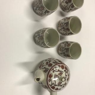 値下げ、梅柄、急須、湯飲み茶わん20個