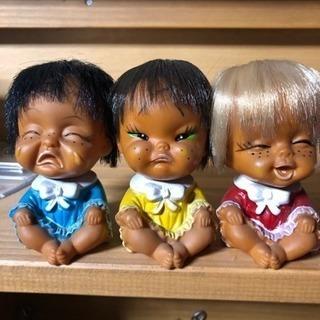 昭和レトロなソフビ 泣き笑い人形