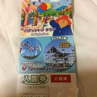 【終了】相模湖プレジャーフォレスト入園券   1枚