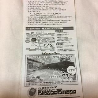 【終了】相模湖プレジャーフォレスト入園券   1枚 - 船橋市