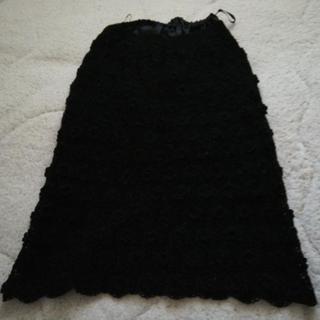 黒レース スカート ウエストゴム