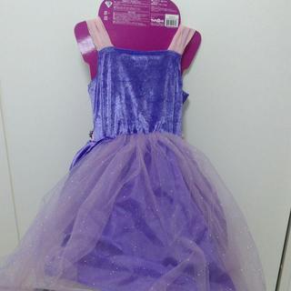 ふわふわ★キラキラドレス★紫色★ハロウィンやクリスマスに★3歳以上★110サイズくらい - 服/ファッション