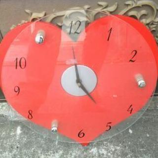 ハート型掛け時計