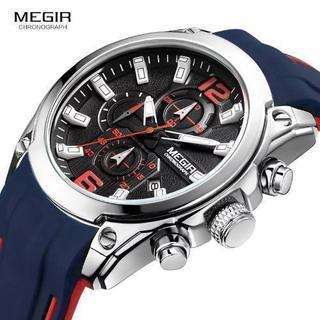 新品未使用 Megir メンズ クロノグラフ アナログ クォーツ時計