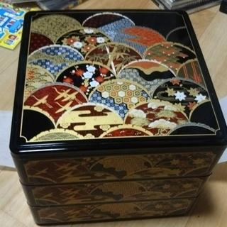 舞鶴 重箱 三段重 和食器 本体サイズ16×19×19センチ
