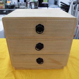 和家具 小物収納 小箱 3段 桐 昭和レトロ 西岡店