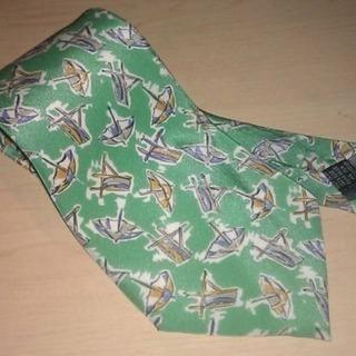 新品 イタリア製 シルク100% ネクタイ 傘 パラソル