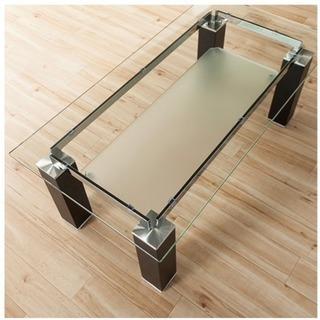リビングテーブル センターテーブル ニューヨーク風 ガラス製