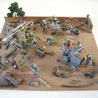 1/35 第二次大戦ドイツ機甲師団前線 ジオラマ