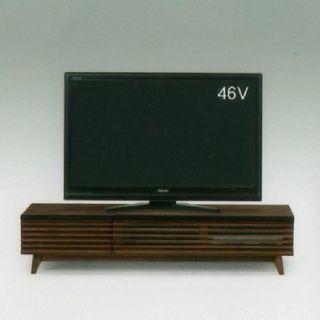 【終了】150サイズ・タモ天然木材ローボード(テレビ台)定価60...