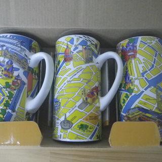 値下!未使用箱入り♪アムステルダムの町★マグカップ★ハンドペイン...