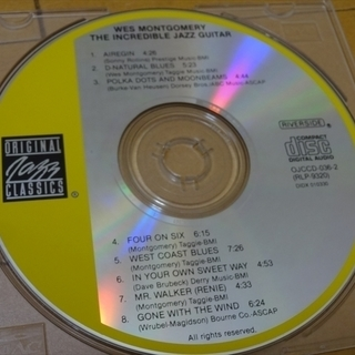 CD JAZZ ウェス・モンゴメリー 「The Incre…
