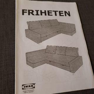 【説明書付き】イケア FRIHETEN(フリーヘーテン) 収納つき...