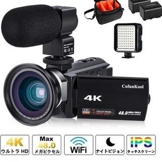 新品未使用 ビデオカメラ 4K 日本語説明書付き (カメラ+LE...