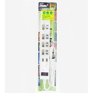 電源タップ 5個口 2USB充電ポート