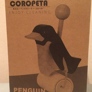 木のカーペットクリーナー 「コロペタ 」(ナチュラル) ペンギン...