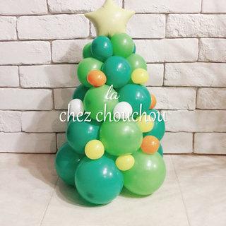 バルーンで作るクリスマスツリー