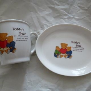 テディベア Teday's Bear マグカップ  と プレート...