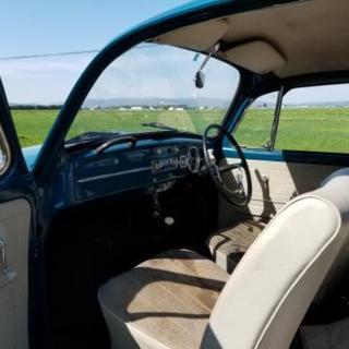 旧車 ビンテージ 札幌 札5 シングルナンバー フルナン 空冷VW ビートル カブトムシ - フォルクスワーゲン