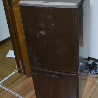 2011年製2ドア冷蔵庫 Panasonic 138L ブラウン...