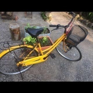 ママチャリ自転車 黄色 取りに来てくれる人限定