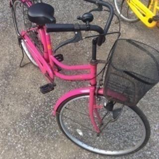ママチャリ ピンク