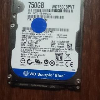 【中古】ノートPC用ハードディスク(750GB Western ...