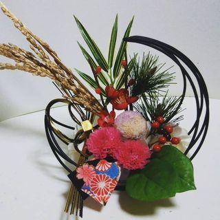 正月のお花作り