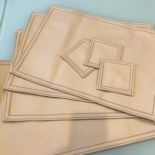 【終了】PVCレザー ランチョンマット&コースター
