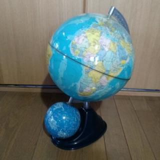 地球儀15年ほど前のものです