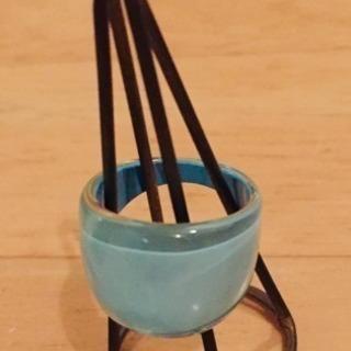 【0円出品】プラスチック製のリング(水色)