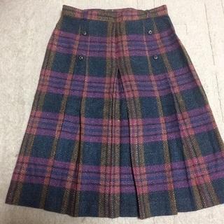 急募‼︎クリーニング済み 秋色カラーのプリーツスカート Lサイズ