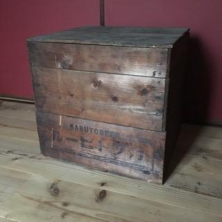 昔のビールの木箱