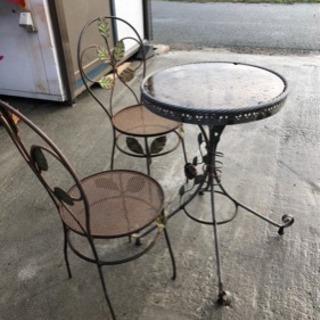 ガーデンテーブルセット 3点セット チェア テーブル