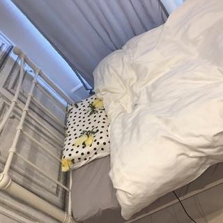 シングルベッド本体+マットレス フランフラン風