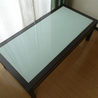 ガラストップローテーブル【1000円⇒0円】