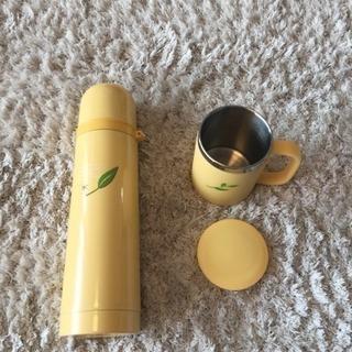 ステンレス水筒&蓋付きステンレスマグカップ